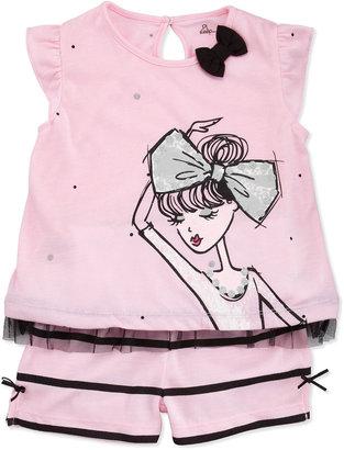 Petit Lem Short-Sleeve Ballerina Pajama Set