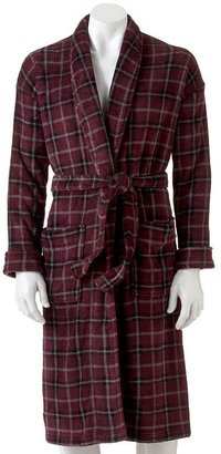 Croft and barrow plaid plush robe