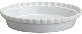 Crate & Barrel Fluted Pie Dish