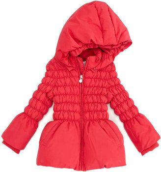 Armani Junior Cinched Puffer Jacket, Red, 3-24 Months