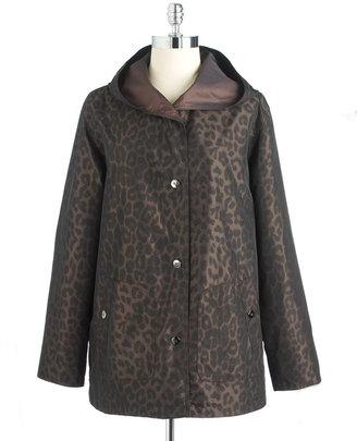 Portrait Petites Long-Sleeved Reversible Raincoat