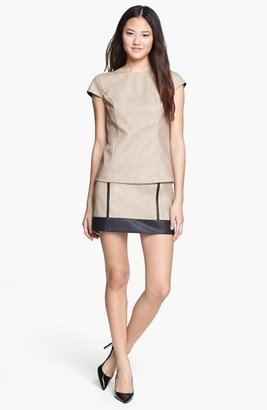 Kensie Faux Leather Miniskirt