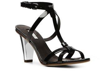 Calvin Klein Collection Kavi Patent Leather Ankle Strap Sandal