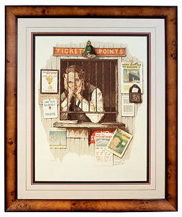 Rockwell Carlisle Gallery Ticket Seller by Norman