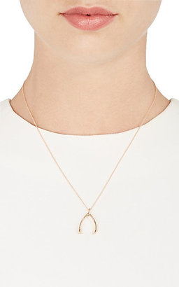 Jennifer Meyer Women's Wishbone Pendant Necklace