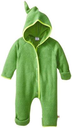 Zutano Cozie Fleece Elf Bodysuit - Apple- 12 Months