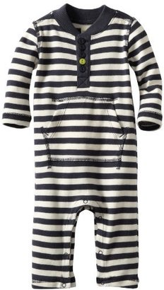 Tea Collection Baby-boys Infant Long Sleeve Henley Romper