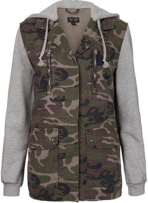 Camo Jersey Sleeved Jacket