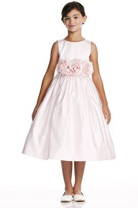 Us Angels Toddler Girl's Flower Sash Sleeveless Dress