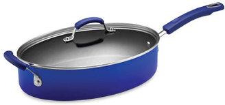 Rachael Ray Hard Enamel 5-Quart Covered Saute Pan - Blue
