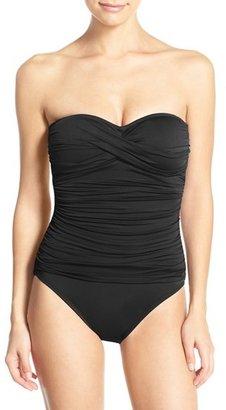 Women's La Blanca Twist Front Bandeau One-Piece Swimsuit $109 thestylecure.com