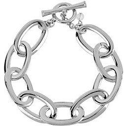 Kenneth Cole Silver Oval Link Toggle Bracelet