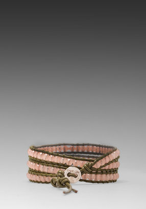 Chan Luu for Breast Cancer Wrap Bracelet in Muted Clay/ Olive
