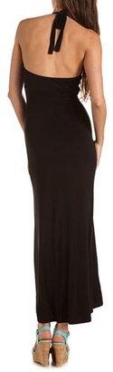 Charlotte Russe Halter Knit Maxi Dress