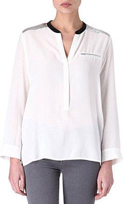 Sandro Eldorado silk blouse