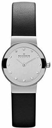 Skagen Women's Freja Quartz Stainless Steel and Leather Casual Watch
