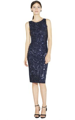 Alice + Olivia Garbo Sequin Fitted Tank Dress