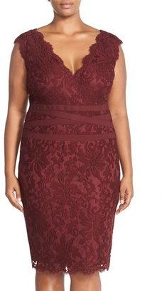 Tadashi Shoji Embroidered Lace Sheath Dress $258 thestylecure.com