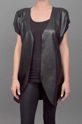 Shelley Caudill Leather Slouchy Top