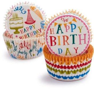 "Sur La Table Meri Meri® ""Birthday"" Bake Cups, Set of 48"
