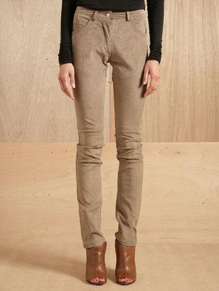 Maison Martin Margiela Women's Five Pocket Leather Trousers