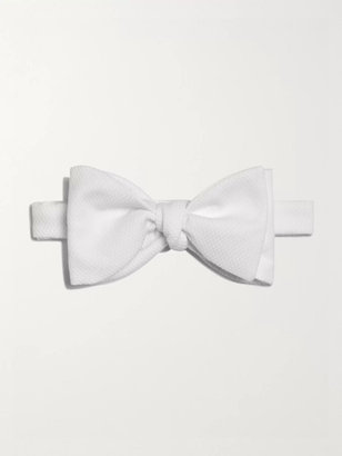 Turnbull & Asser Pre-Tied Cotton-Piqué Bow Tie