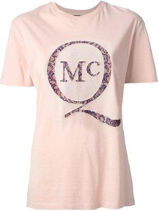 McQ by Alexander McQueen lace logo T-shirt