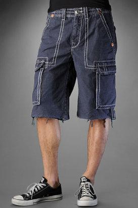 True Religion Men's Issac Cargo Shorts - Navy