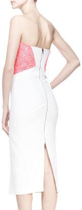 Roland Mouret Electra Lace-Top Dress