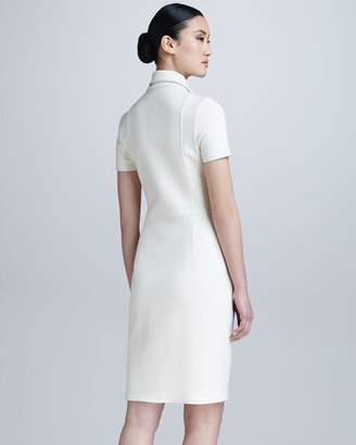 Chado Ralph Rucci Zip-Front Structured Jersey Dress