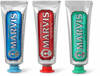 Marvis Classic Strong Mint, Aquatic Mint And Cinnamint Toothpaste, 3 X 25ml