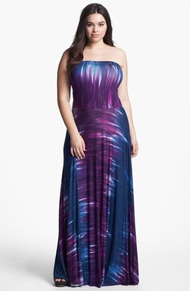 Nordstrom FELICITY & COCO Strapless Jersey Maxi Dress (Plus Size Exclusive)