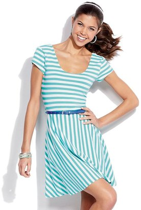 Derek heart striped skater dress - juniors