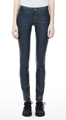 Theyskens' Theory Pathen Pant in Wintage Coated Cotton Blend
