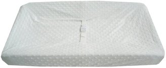 American Baby Company Heavenly Soft Minky Dot Changing Table Cover - White