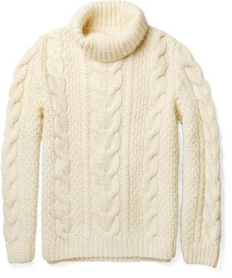 Maison Martin Margiela Chunky Cable-Knit Wool Sweater