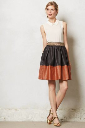 Anthropologie Colorblocked Mara Skirt