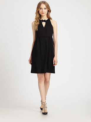 RED Valentino Bow-Neck Knit Dress