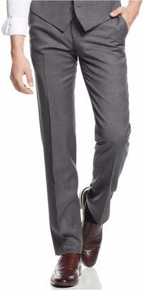 Bar III Mid-Grey Pindot Slim-Fit Pants $175 thestylecure.com