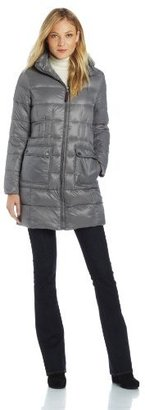 Tommy Hilfiger Women's Three-Quarter Packable Down Jacket with Patch Pockets