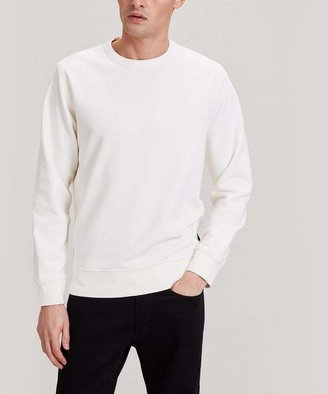 Stone Island Washed Crew-Neck Cotton Star Sweatshirt