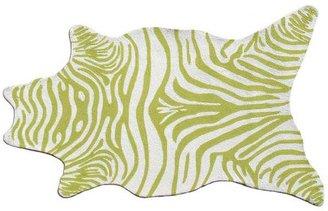 Kaloo Zebra Shaped Rug- Green