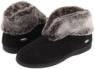 Acorn Faux Chinchilla Bootie II (Black) Women's Boots