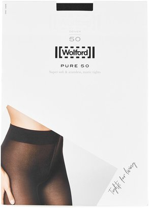 Wolford Pure Navy 50 Denier Tights