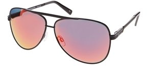 Le Specs Thunderbird Mirrored Sunglasses - Black mirror