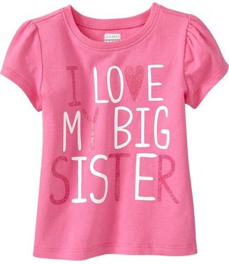 """Old Navy """"I ♥ My Big Sister"""" Tees for Baby"""