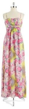 Jessica Simpson Floral Strapless Gown