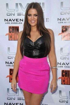 Naven Skinny Mini Skirt in Pop Pink