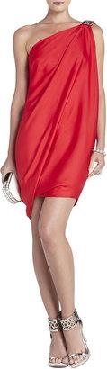BCBGMAXAZRIA Atla One-Shoulder Draped Dress