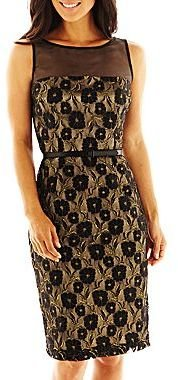 JCPenney Danny & Nicole® Lace Illusion Dress